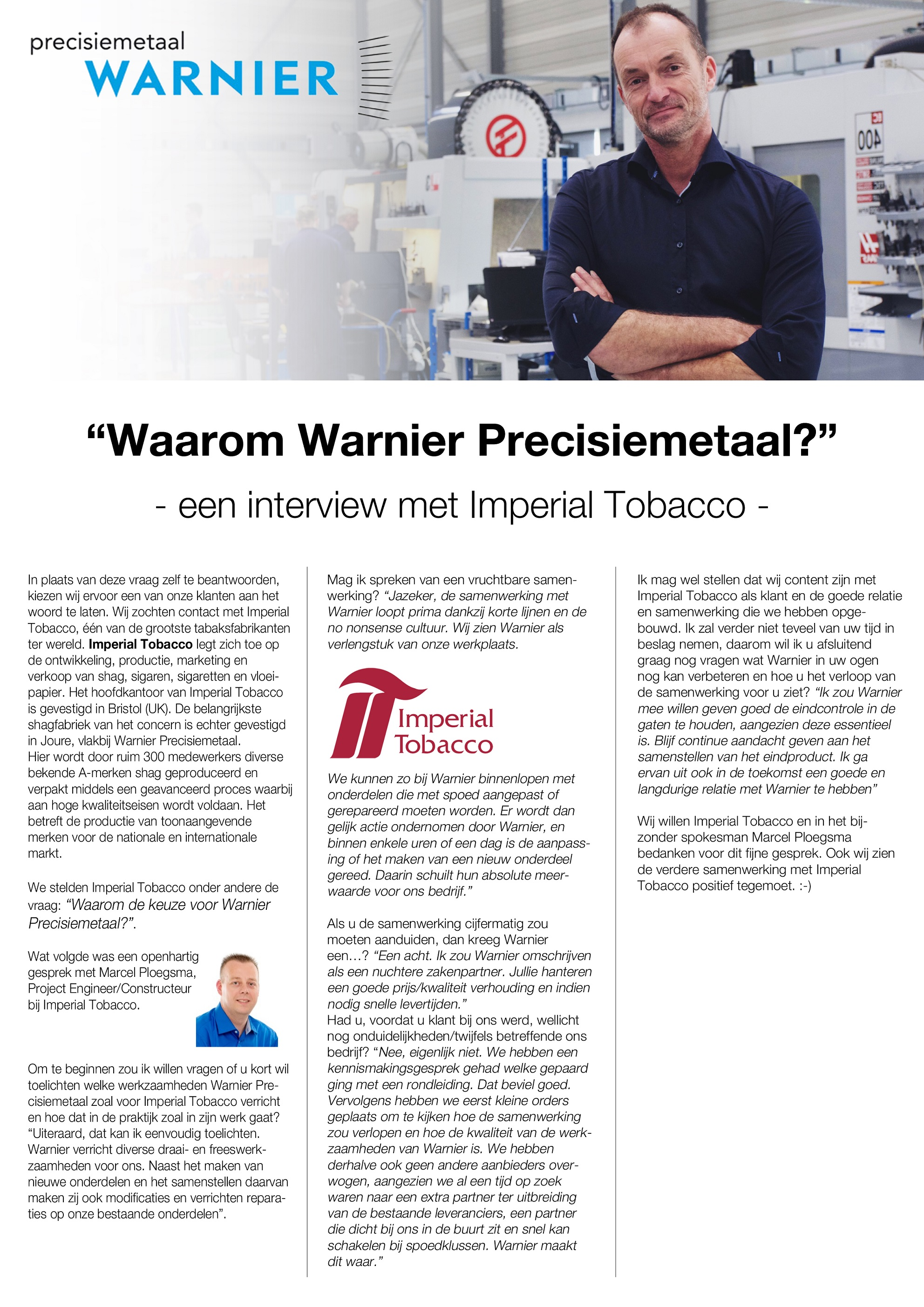Interview Imperial Tobacco kleiner