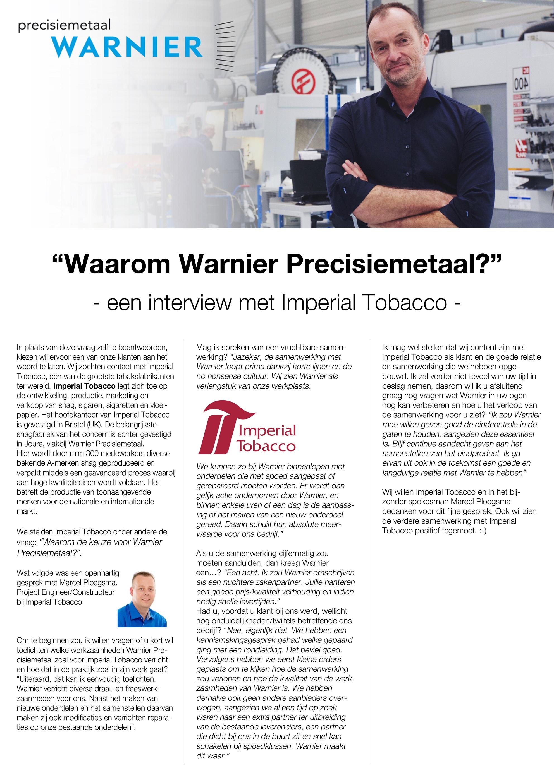 Interview Imperial Tobacco kleiner