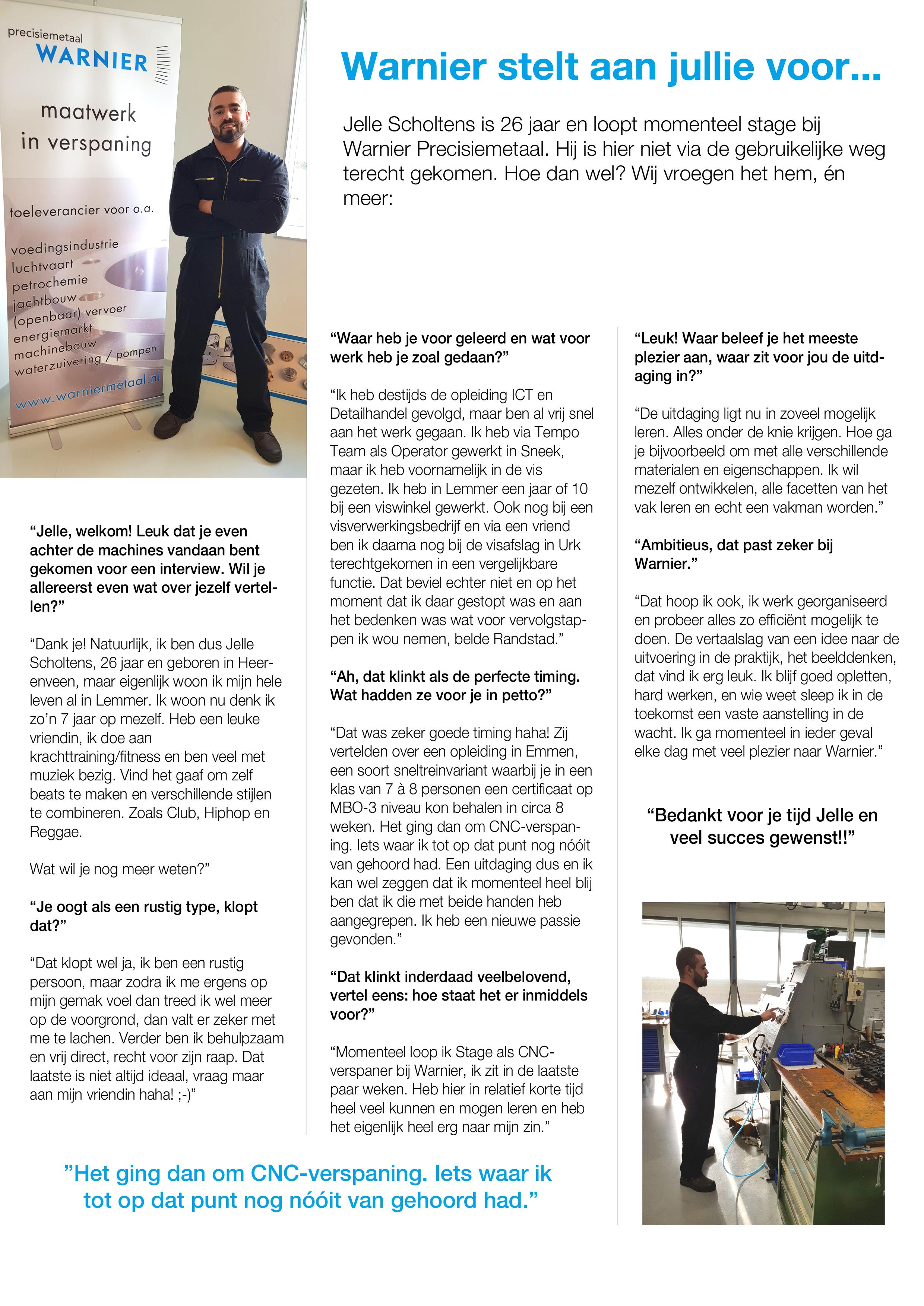 Jelle Scholtens interview
